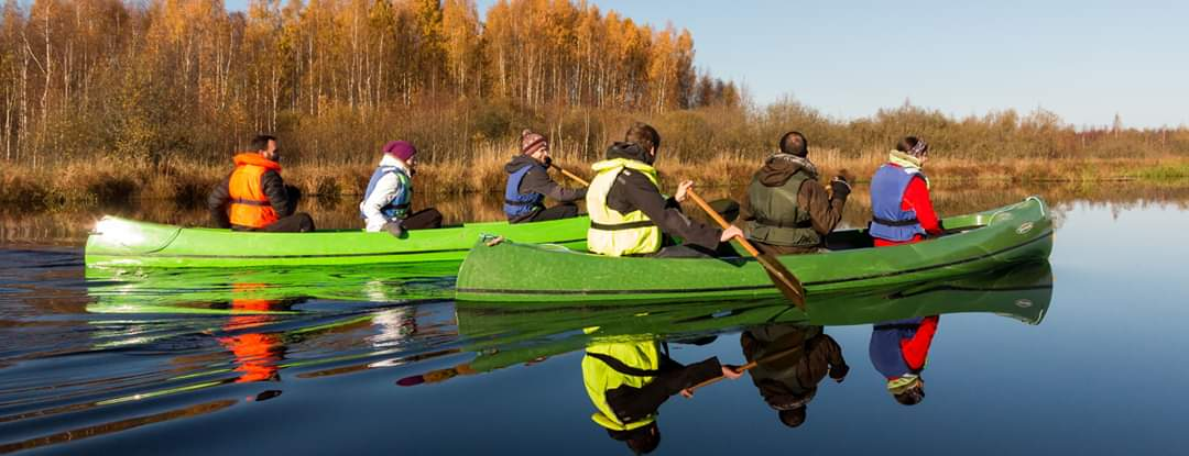 Lõunaretked Canoe hike on river Elva